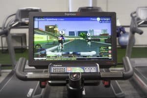 Training Station cycle machine race game
