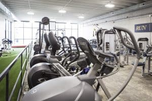 Training Station elliptical machines and treadmills