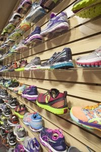 Training Station run shoe store close up