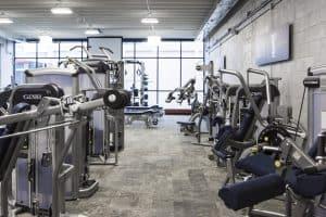 Training Station strength machines view