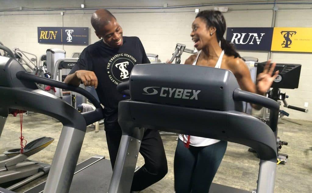 Phil training on treadmill