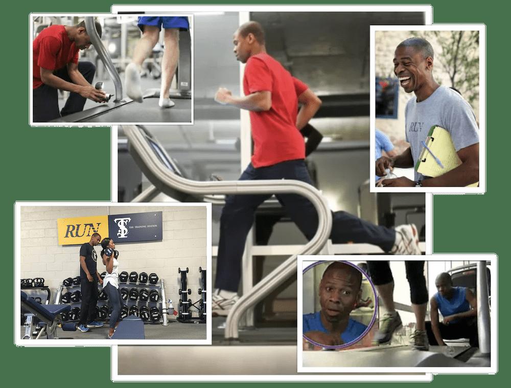 Phil Clark training collage