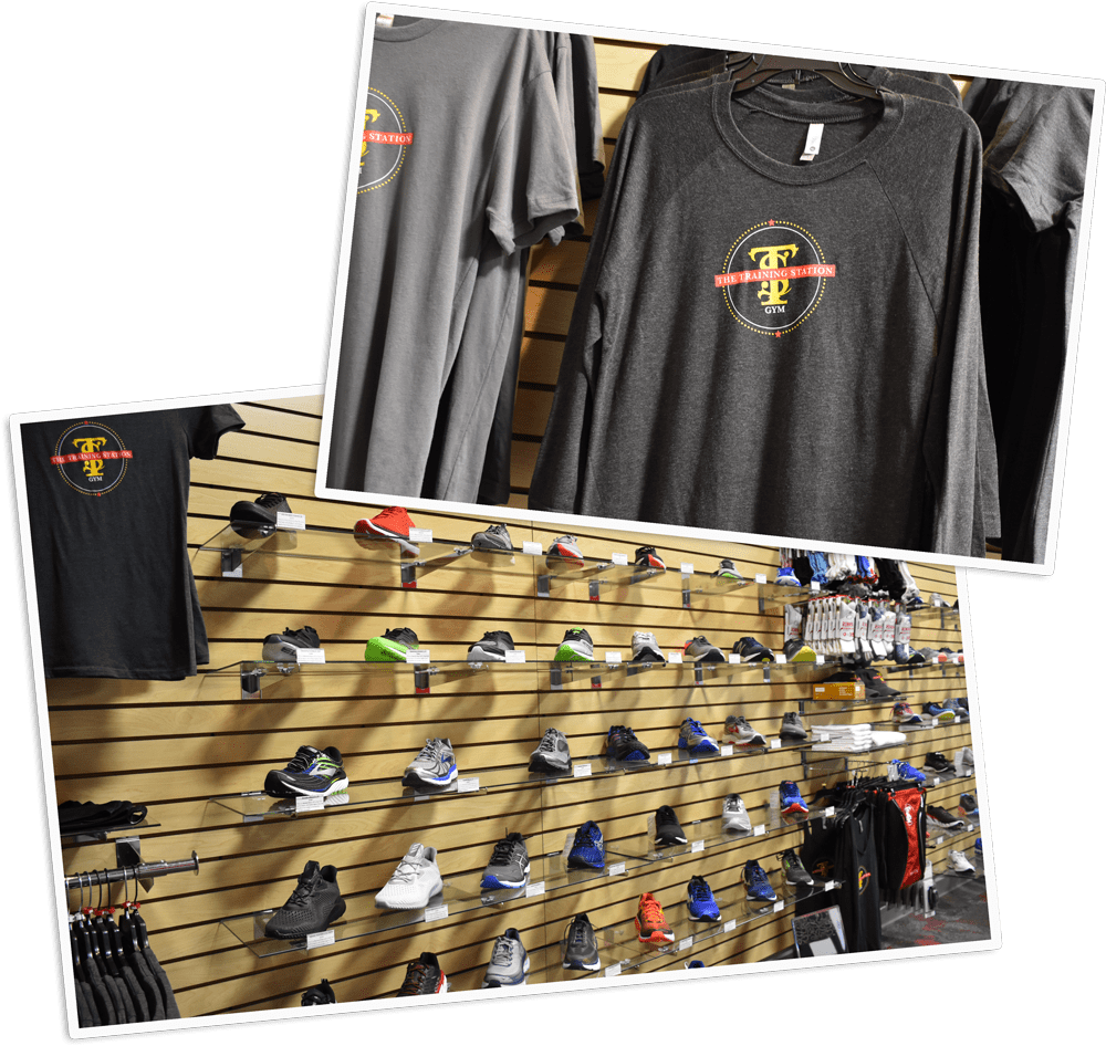 run shoe store products shirts and shoes