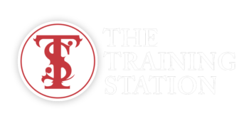 The training station logo red and white