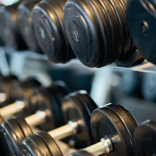 gym acceptance dumbbells