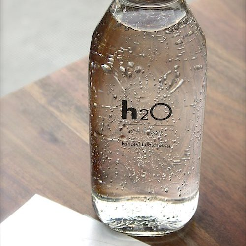 h2O glass water bottle